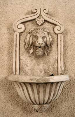 Scroll Lion Wall Fountain