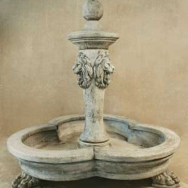 3 Lion Pool Fountain