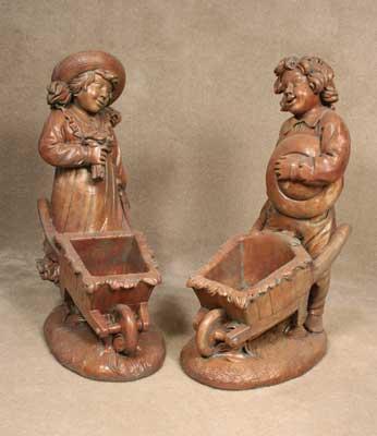 Wheelbarrow Girl and Boy