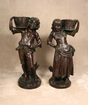 Country Boy and Girl with Baskets