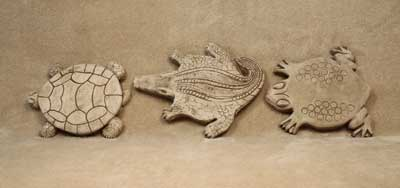 Turtle, Alligator and Frog Step Stones