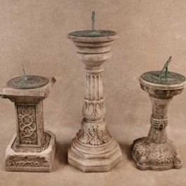 Assorted Sundials and Stands