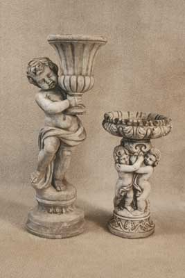 Cherub Planter and Bowl