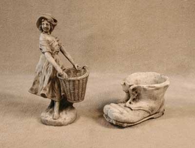 Girl with Basket, Shoe Planter