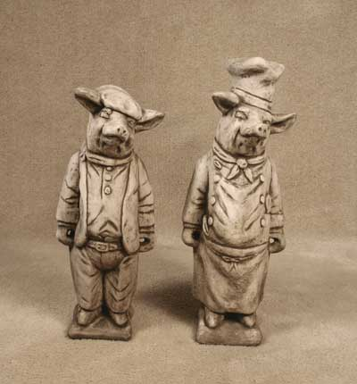 French Pig and Chef Pig