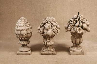 Pineapple Finial, Fruit Baskets