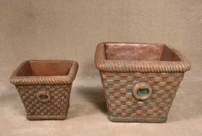 Square Basketweave Planters