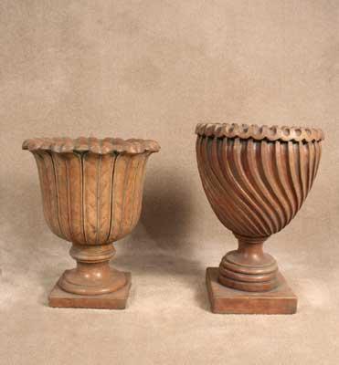 Eden and Swirl Urns