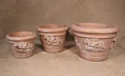 Grape Leaves Pots