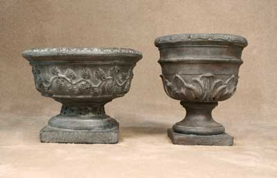 Grape Vine Urn and Leaf Urn