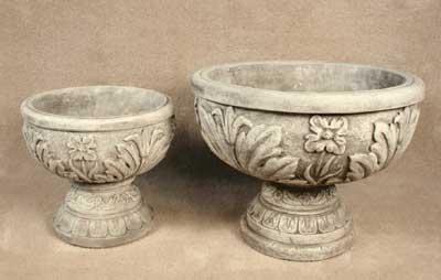 Round Flower Urns