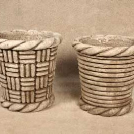 Basketweave and Cylinder Pots