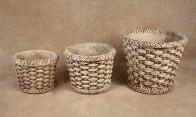 Basketweave Pots