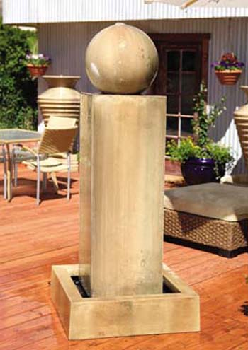 Monolith Fountain with Ball