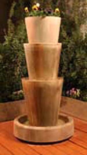Tri-Level Jug Planter Fountain