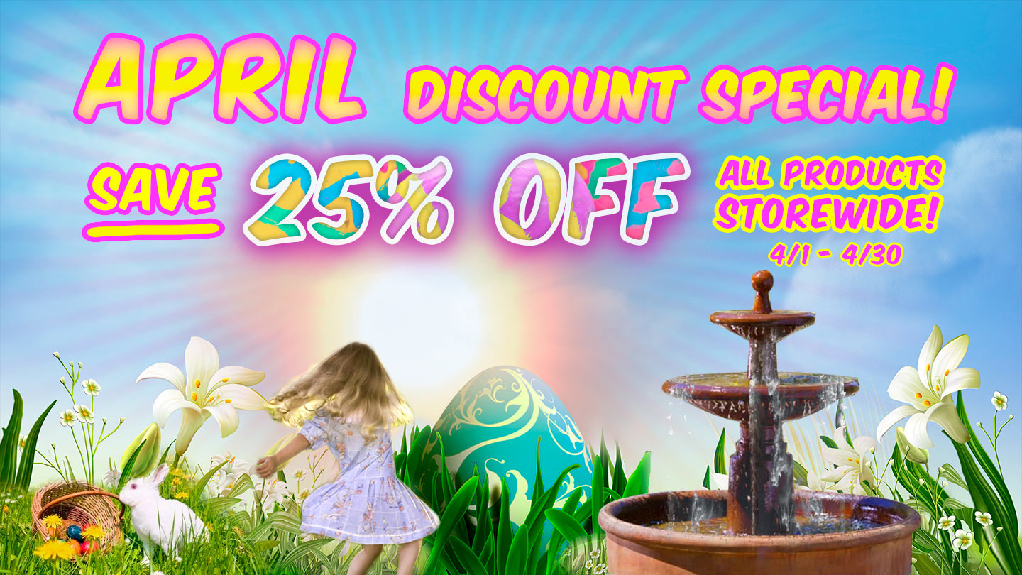 APRIL SALE - 25% OFF EVERTHING