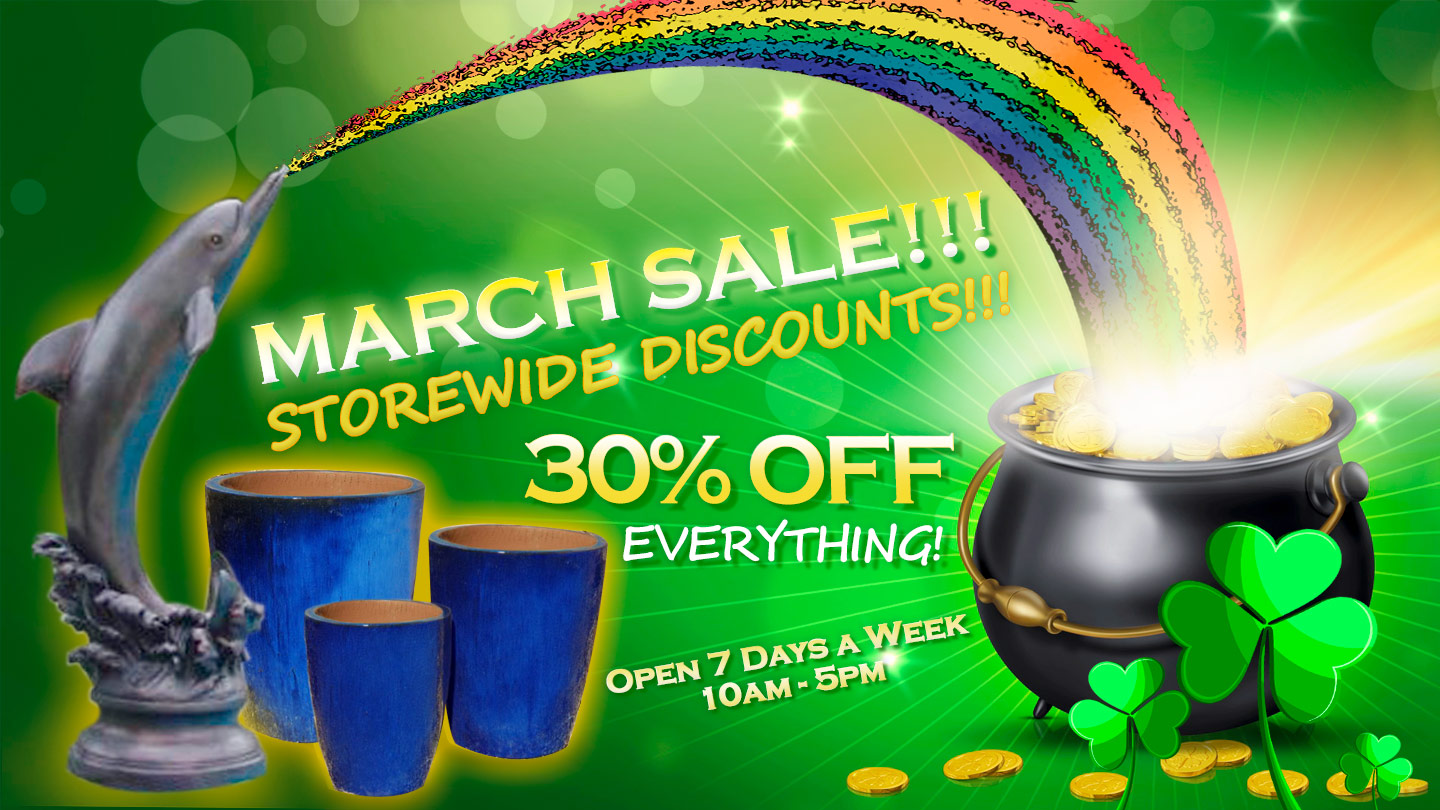 MARCH SALE - 30% OFF EVERTHING