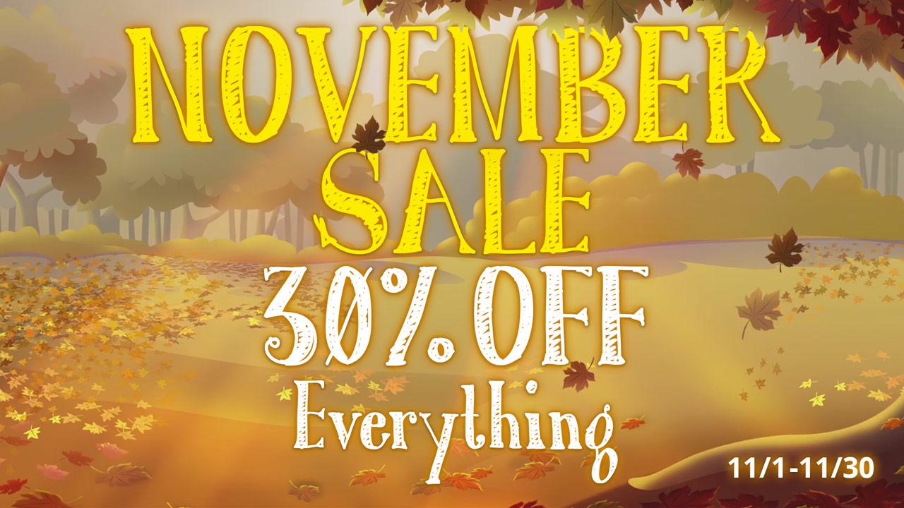 November Sale 25 Off