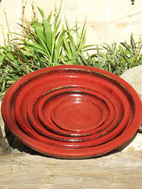 Saucers Oxblood Red - Ceramic - Set of 5