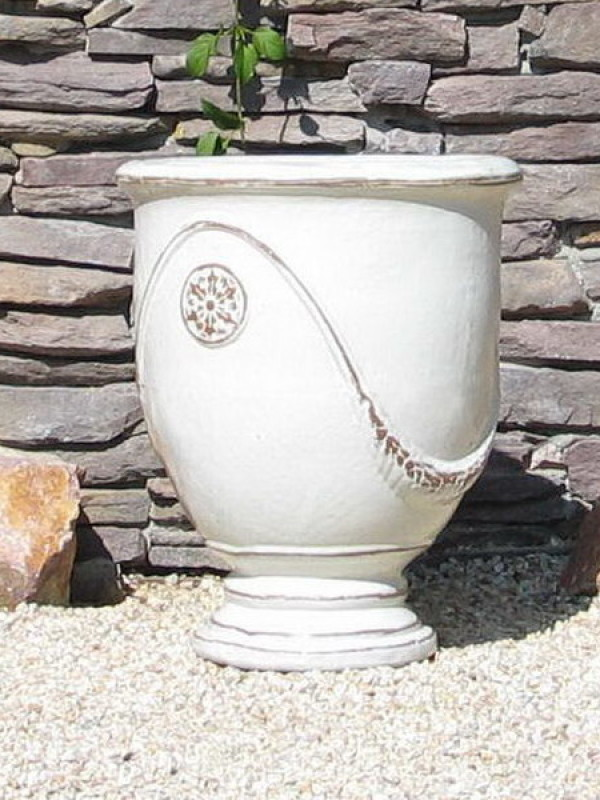 Large White French Urn Ceramic