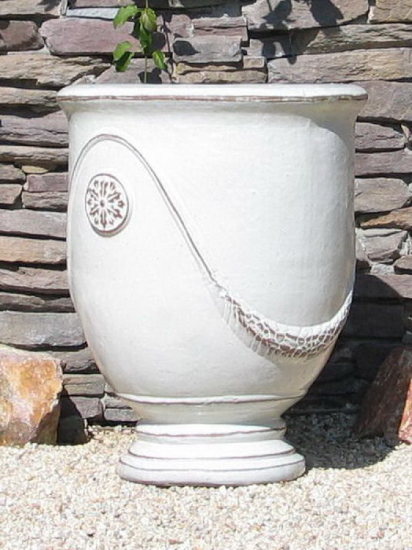 Extra Large French Urn White Ceramic