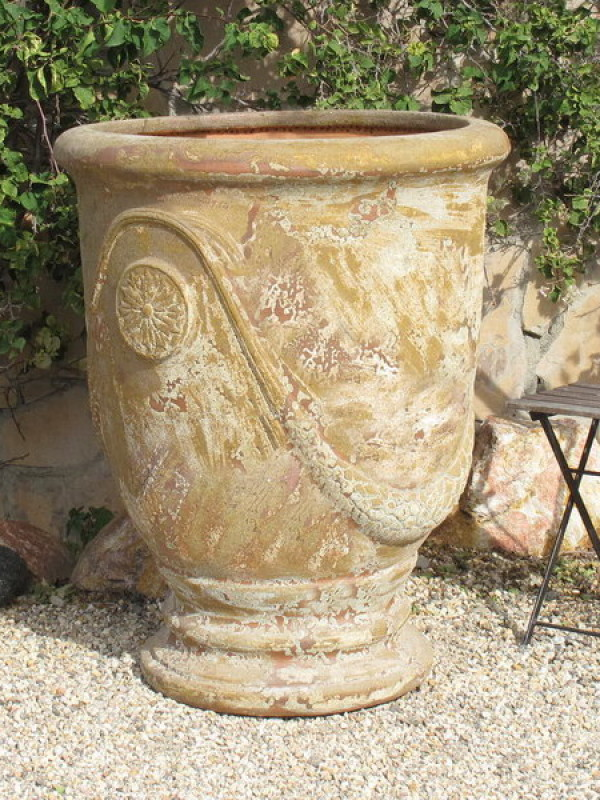 Antiqued French Jumbo Urn Ceramic
