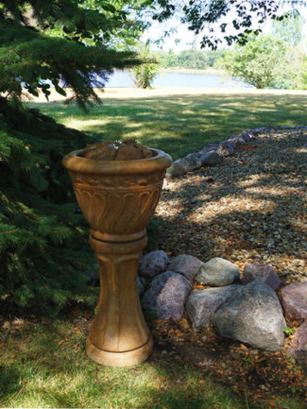 Tall Leaf Patio Bubbler Fountain