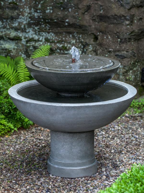 Hydrangea Leaves Two Tier Fountain