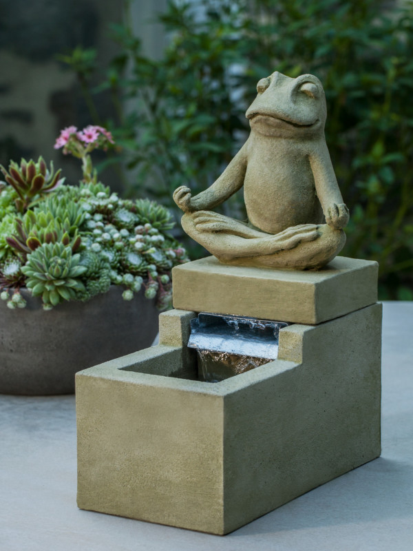 Mini Element Zen Frog Fountain