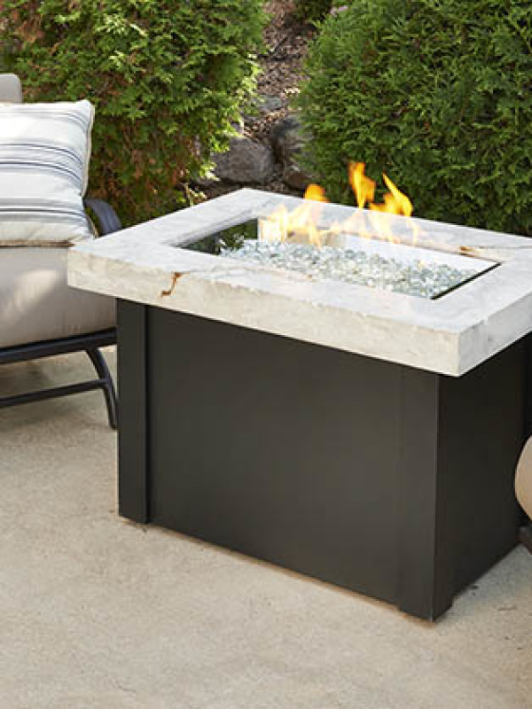 Fire Table - Black and White Top