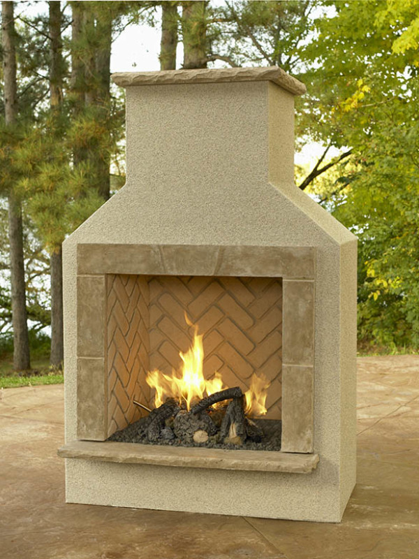 Fireplace - San Jaun with logset