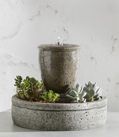 M-Series Rustic Spa Fountain with Planter