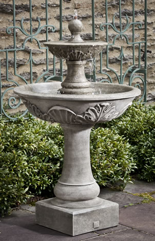 Acanthus Two Tiered Fountain