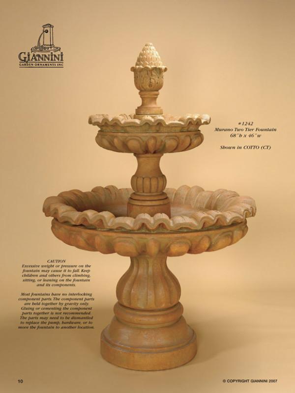 Murano Two Tier Fountain