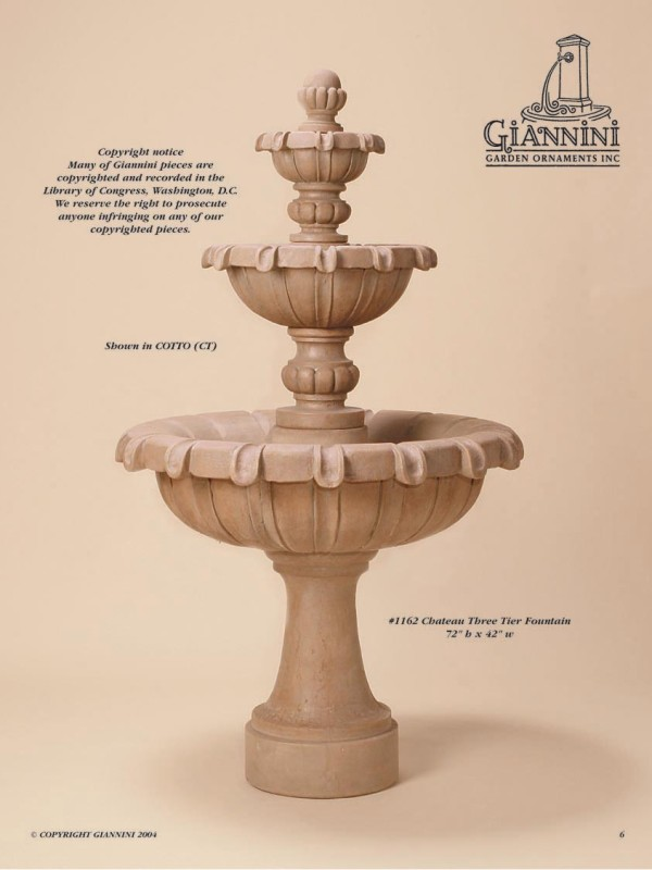 Chateau Three Tier Fountain