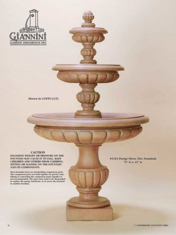 Parigi Three Tier Fountain