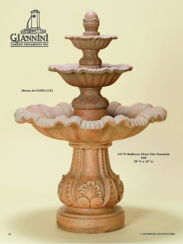 Mallorca Three Tier Fountain Tall