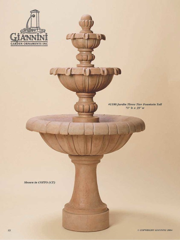 Jardin Three Tier Fountain Tall
