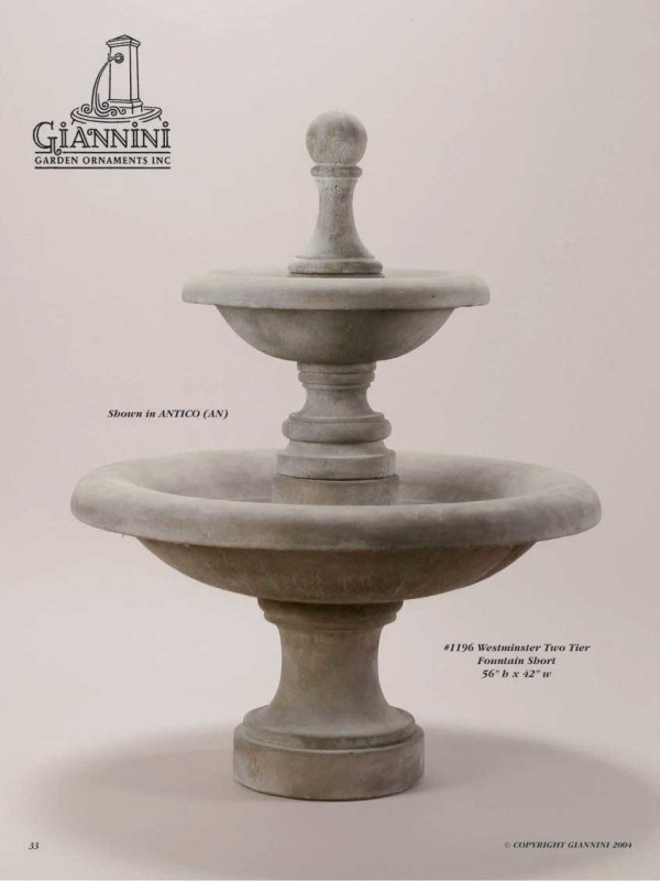 Westminster Two Tier Fountain Short