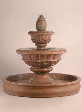 "Roma Fountain with XL Pineapple & 70"" Basin"