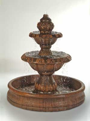 "Oak Fountain with 55"" Basin"