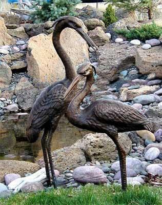 Medium Herons (Pair)