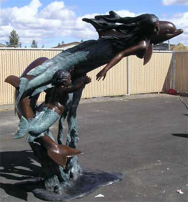Mermaid, Dolphin and Merboy