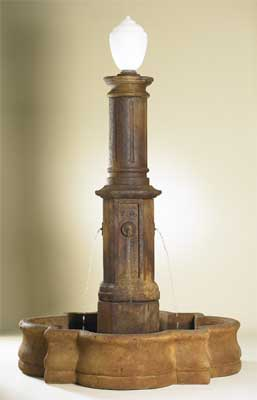 Latina Fountain with Lamp