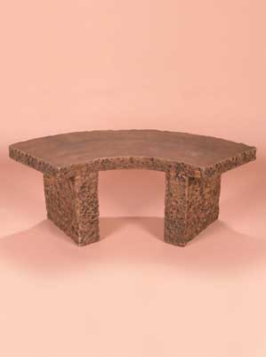 Curved Granite Bench 4-Foot