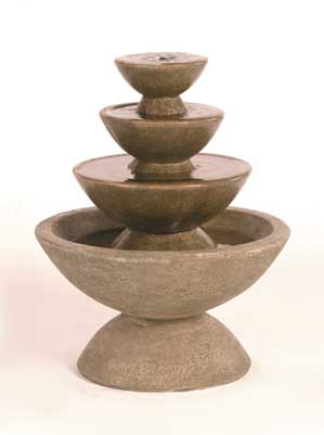 Color Bowl Fountain, 4-Tier