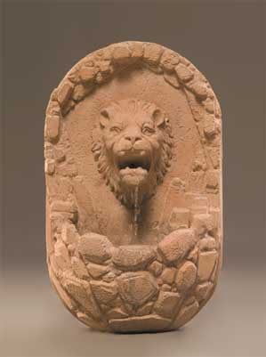 Lion Wall Fountain, Small