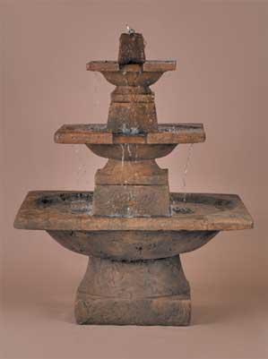 Quadrate Fountain, 3-Tier