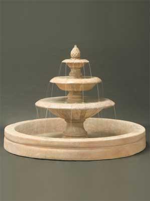 "Venetian Fountain with 98"" AWC Basin"