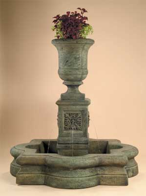 Chambers Fountain with AWC Quatrefoil Basin